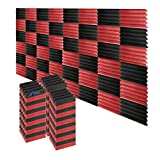 Arrowzoom 48 Acoustic Foam Tiles Sound Treatment Absorbing Panels Wedge Audio Deadening Echo Removal...