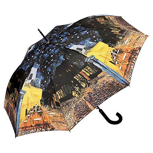 VON LILIENFELD Paraguas de Iluvia Largo Clásico Automático Grande Estable Arte Vincent Van Gogh: Café Nocturno