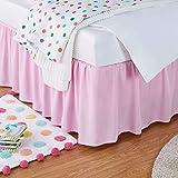 Amazon Basics Ruffled Bed Skirt, Classic Style, Soft and...