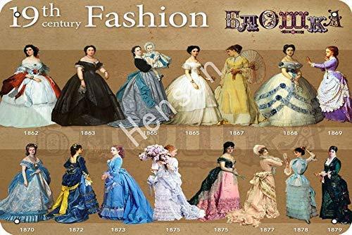 Brandless 19th Century Fashion VintageTinSignArtIronPaintingRustyPosterDecorationAluminumplaqueForHotelCafeSchoolOfficeGarage