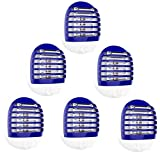 6 Pack Plug in Electronic Insect Killer Bug Zapper Mosquito Lure Lamp Pest Control Eliminates Flying Pests Gnat Trap Indoor with Night Light