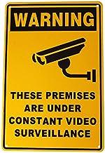 Security Safety Surveillance Sign Warning Camera CCTV 200x300mm Metal Under 24H Surveillance 16003003 WEIDA