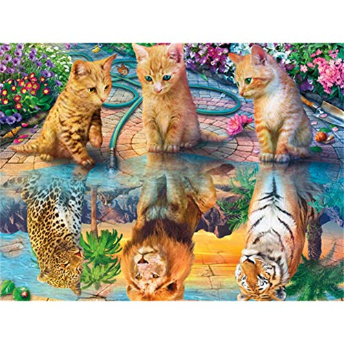 TheBigThumb 5D Diamond Painting Kits DIY Round Full Drilling Art DIY 5D Cat Animal Painting Kit Full Drill Square Diamond Drawing (ZQF023)