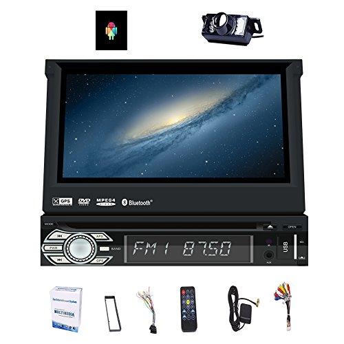 Une caméra de recul gratuit! 2 Go 16 Go Android simple Din voiture stéréo écran tactile tête Unité de soutien radio DAB Autoradio WIFI 3G / 4G Sat GPS Télécommande Bluetooth USB Nav SWC OBD2 Radio