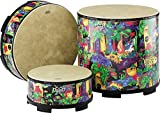Remo Drum, KIDS PERCUSSION, Gathering Drum, 18' Diameter, 8' Height, Fabric Rain Forest