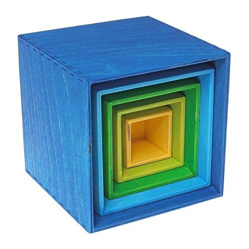 Grimm's kleiner Kistensatz bunt aussen blau - 6