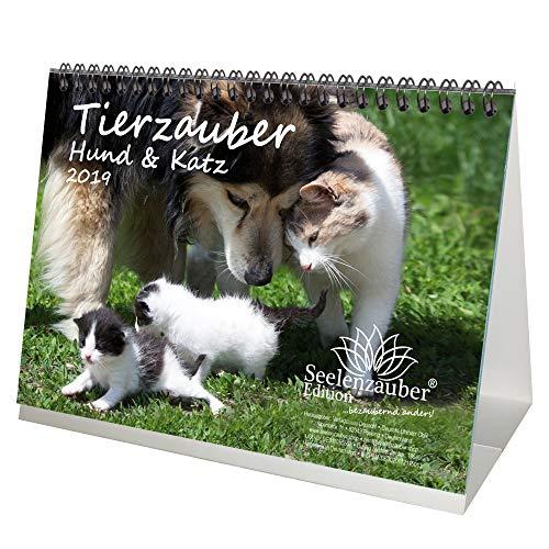 Tierzauber Hund und Katz · DIN A5 · Premium Kalender/Tischkalender 2019 · Tierfreundschaft · Freundschaft · Hunde · Katze · Bauernhof · Natur · Tiere · Edition Seelenzauber