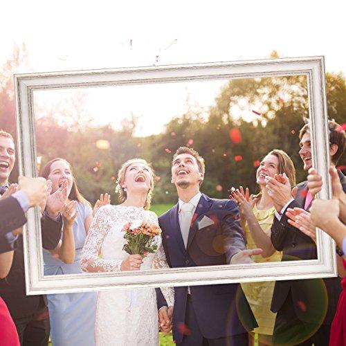Hochzeits-Bilderrahmen | 50 x 70 weiß - 6