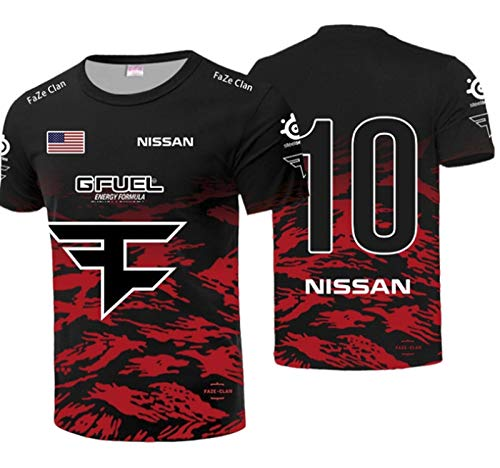 MIAOR T-Shirts für Herren E-Sport CSGO Faze Clan Esports NIKO Uniform Bequeme und Atmungsaktive Sweatshirts