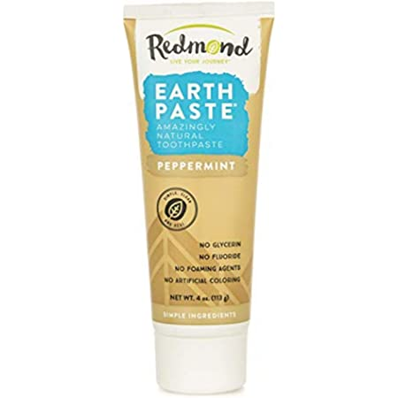 Redmond Earthpaste - Natural Non-Fluoride Toothpaste, Peppermint, 4 Ounce Tube (2 Pack)…