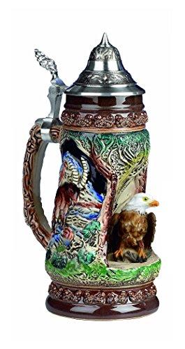 Jarra de cerveza alemana fauna - región salvaje - piedra gigante, águila, jarra 0,5 litros KI 335-B 0,5L Adler