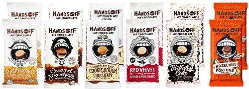 Hands off my Chocolate, Fairtrade 12er Set Mischung, 6 Sorten mit insgesamt 12 x 100g, belgische Schokolade für einmaliges Geschmackserlebnis