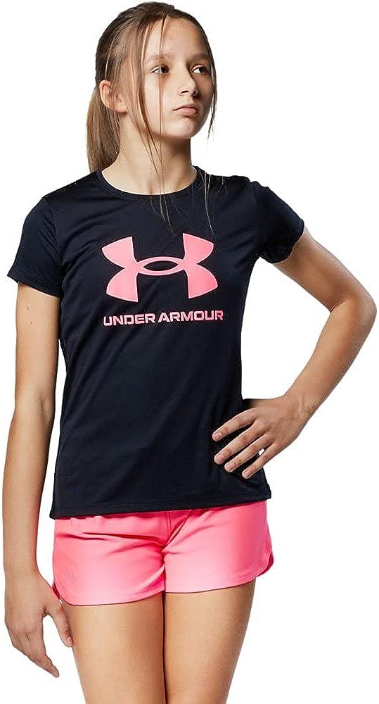 Under Armour Girls' Tech Sportstyle Big Logo Short-Sleeve T-Shirt