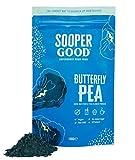 Butterfly Pea Flower Pulver - (100g) von Soopergood – Schmetterlingserbsen Blüte – Blauer Matcha Tee – Blaue Klitorie – 100% Pur - Ohne Zuckerzusatz – Vegan - Natürliche Lebensmittelfarbe