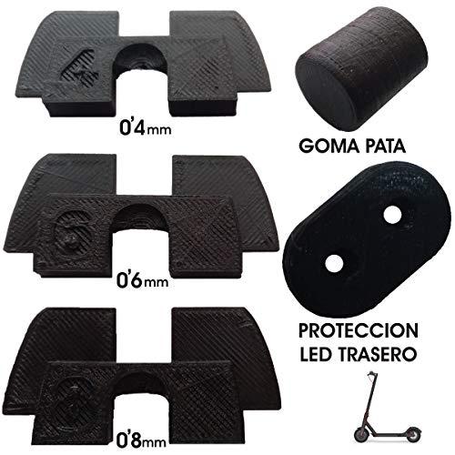 3dprinted 3X Cuscino in Gomma 3D Flessibile Anti allentamento e Vibrazioni, 1x Tappo in Gomma, 1x Protezione LED per Xiaomi mijia M365 M187 Scooter Elettrico