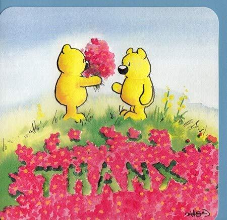 Süße Dankkarte Danke Englisch Thanx