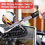 Qomolo Grill Brush 3 in 1 BBQ Grill Brush with Strong Stainless Steel Scraper Grill Cleaning Brush for Charcoal Electric… 11