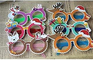 Pengcher Christmas Ornaments Glasses Frames Party Xmas Decoration(Random)