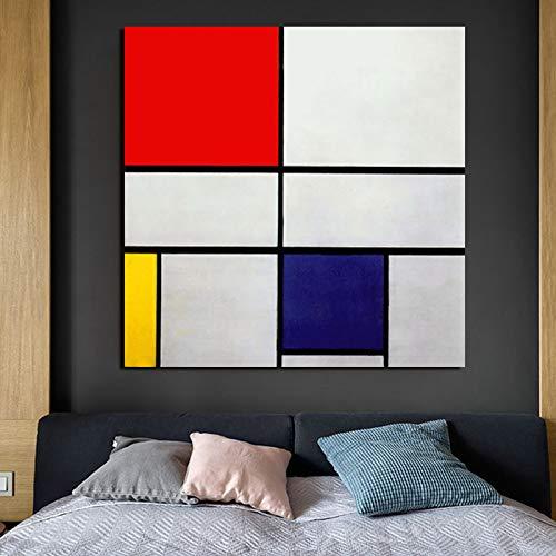 KWzEQ Gemälde auf Leinwanddruck Wohnzimmer Hauptdekoration Moderne Wandkunst Ölgemälde Poster Bild,Rahmenlose Malerei,70x70cm