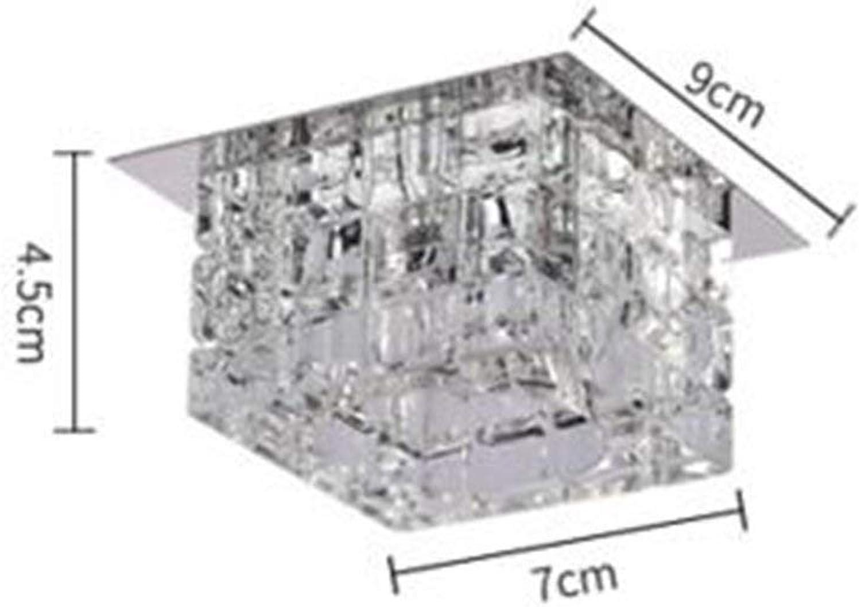 XDD Deckenleuchte Kronleuchter, Led5W Deckenleuchte, Schlafzimmer Wohnzimmer   Esszimmer Warm Light Crystal Lamp,klar