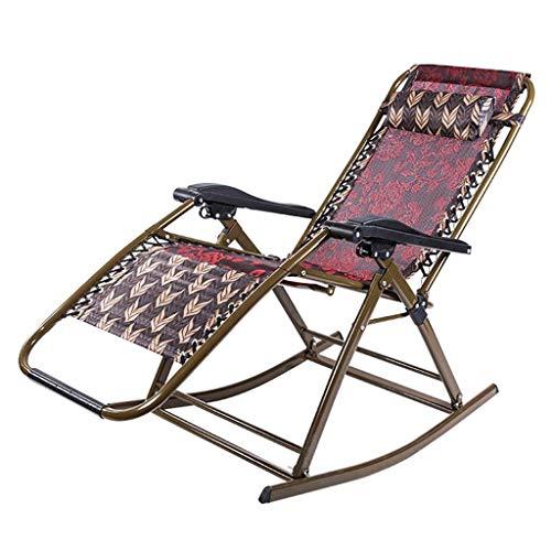 Chaises de Camping Chaises Longues de Jardin Chaise Pliante Chaise berçante extérieure, Chaise Longue Pliante, Chaise Longue de Jardin réglable, Chaise de Sieste de maternité Adult