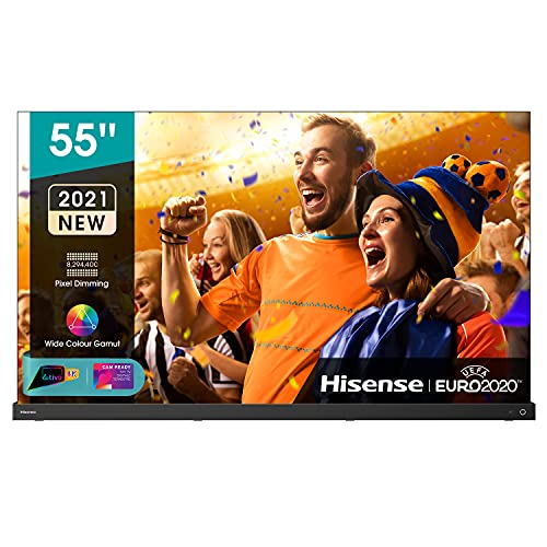 Hisense 55' OLED 4K 2021 55A98G, Soundbar Integrata 2.1.2 120W Dolby Atmos, Smart TV VIDAA 5.0, HDR Dolby Vision IQ, Controlli vocali Alexa / Google Assistant, Tuner DVB-T2/S2 HEVC 10, lativù 4K
