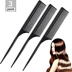 Material: the carbon comb is made of celcon, anti-static and heat-resistant, virtually unbreakable, lightweight and durable Design: the tail comb is designed for setting hair and creating unique styles for most hair types including short to medium-le...
