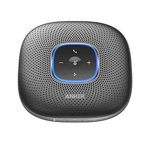 Anker PowerConf Bluetooth Konferenzlautsprecher mit 6 integrierten Mikrofonen, verbesserter Tonaufnahme, 24 St. Akku, USB-C Konnektivität, für Homeoffice(Schwarz)