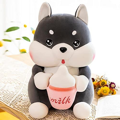 WXLKHFA Bebé botella husky muñeca juguete de peluche lindo de dibujos animados muñeca trapo muñeca regalo para novia