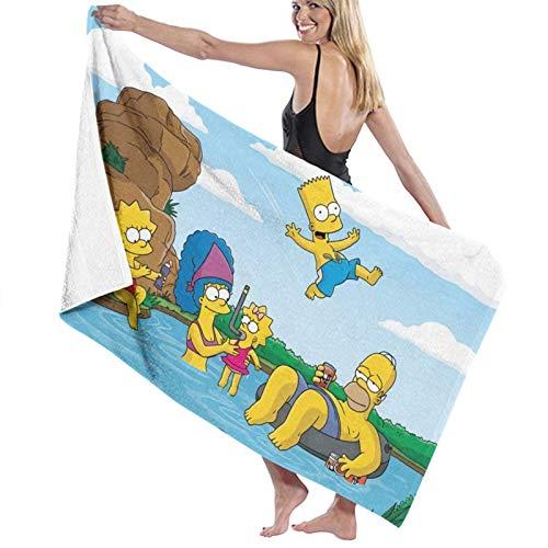Sim-Psons - Toallas de baño de microfibra de secado rápido, toallas de playa para mujeres/niños/hombre, toalla de baño extra grande para senderismo, natación, campamento/ducha