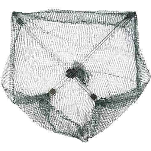 NGHSDO Fischernetz, 50 x 50 cm, Regenschirm, Krabbe, Koeder, Überwurf, Angeln, Senkmasche, grün, Kunststoff, 22 (Farbe: grün)