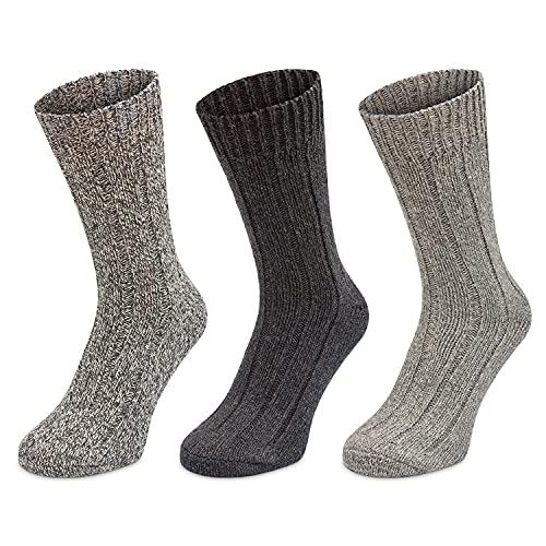 3 Pairs Men's Thermal Socks - Thick Warm Wool Winter Socks (3pk - Mens...