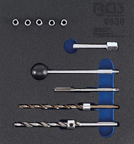 BGS 9538 Werkstattwageneinlage 1/6: Gewinde-Reparatursatz für Injektor-Befestigungsschrauben 10-tlg
