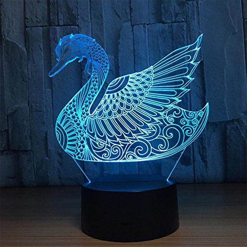 baby Q LED 3D Lampe, Lumières visuelles colorées de Contact, Lampe Acrylique de Tableau de Gradient, lumière d'alimentation d'USB