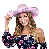 FlashingBlinkyLights Light Up Iridescent Space Cowgirl Hat