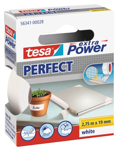 tesa Extra Power Perfect Gewebeband weiß 2,75m:19mm