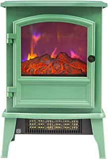 AP.DISHU Electrical Fireplaces, Adjustable Thermostat Control 2000W Freestanding Fireplace Electric Fires/Stove Heater 3D Dynamic Flame