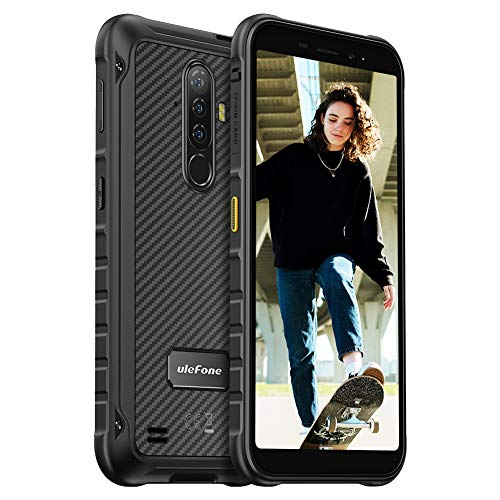 Rugged Smartphone 2021, Ulefone X8 4GB + 64GB (256GB Expandable) Cellulare Impermeabile, Batteria 5080mAh 13MP + 2MP Camera, 5.7 Pollici HD Schermo Telefono Resistente, NFC/GPS/Dual Sim/Wifi- Nero