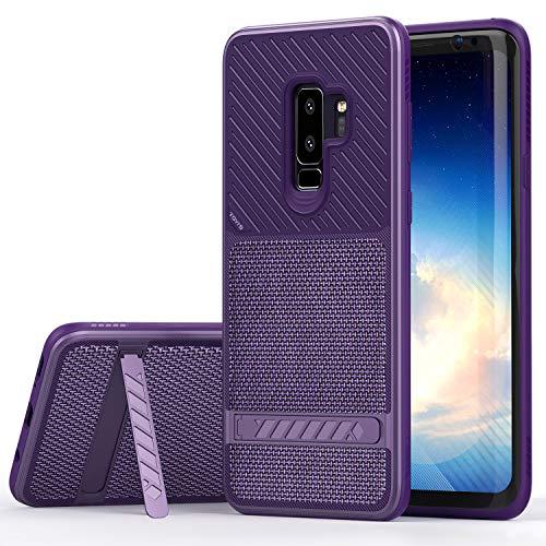 Preisvergleich Produktbild OCYCLONE TGVi'S Samsung Galaxy S9 Plus Hülle,  Luxuriös und Modisch Galaxy S9 Plus Hülle mit Ständer und Stoßfeste Bumper Cover Schutzhülle für Samsung Galaxy S9 Plus (Lila)