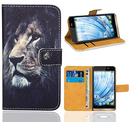 FoneExpert® Wiko Getaway Handy Tasche, Wallet Hülle Flip Cover Hüllen Etui Ledertasche Lederhülle Premium Schutzhülle für Wiko Getaway