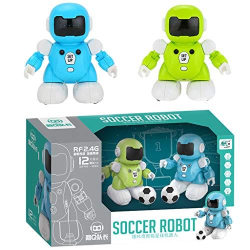 AmaMary Robot de Futbol, Control Remoto Interactivo Inteligente Robot de fútbol de detección (Azul y Verde)