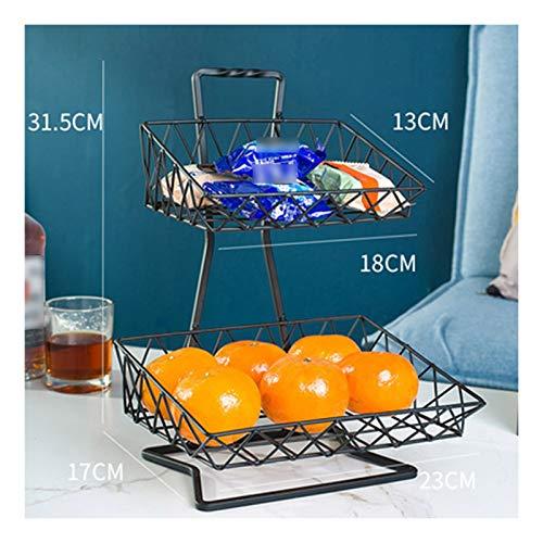 XXIOJUN Metal Drain Basket, 2-3 Tier Storage Fruit And Vegetable Drain Rack Iron Welding Wear-resistant And Durable Stainless Steel, Waterproof And Moisture-proof