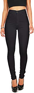 Vibrant Pink Ice Women's Juniors High Waist Fitted Skinny Jeans