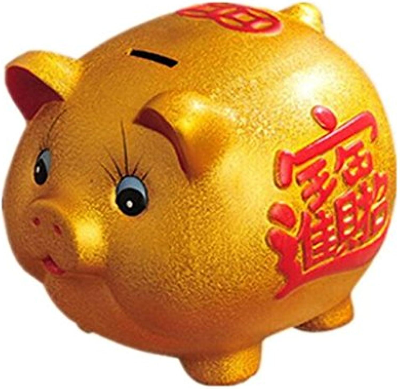 precios mas bajos CQG Hucha de cerámica dorada con decoración creativa de de de gran tamaño  diseños exclusivos