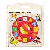 WOOMAX - Reloj, abecedario y ábaco madera 3 en 1 (ColorBaby 43632)