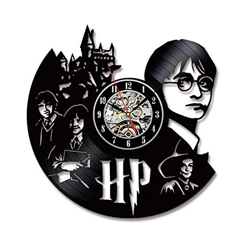 Radiancy Inc Vinyl record wandklok antieke stijl Harry Potter creatieve retro home decoratie wandklok handleiding mute LED klok