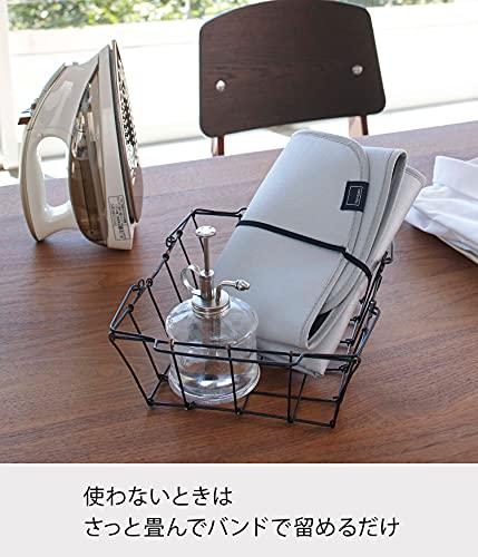 山崎実業(Yamazaki)折り畳みアイロンマットアルミ約W72XD48㎝アルミコーティング加工コンパクト収納お手軽にアイロン掛け4026グレー