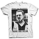 Photo de Big Lebowski Officiellement Marchandises sous Licence There are Rules T-Shirt (Blanc), Large