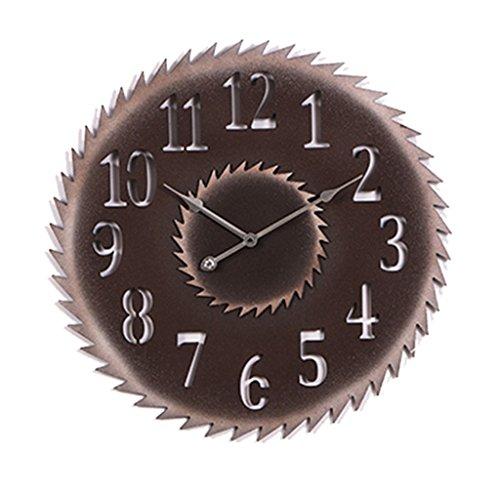 SESO UK- Retro- hängende kreative dekorative Uhr der runden Wand-Taktgeber-industriellen Uhr Sägeblatt (Farbe : Arabic Numerals, größe : 20 inch)