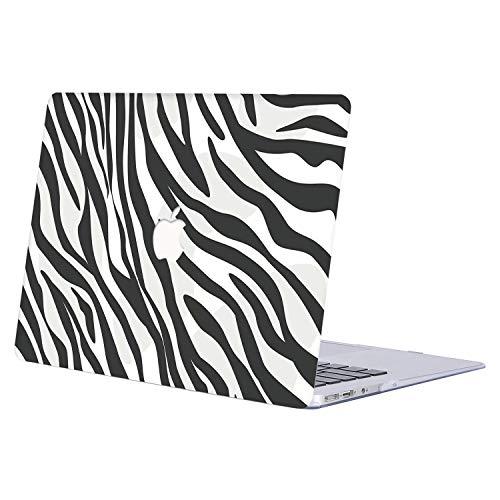 """AJYX Funda para 2018 MacBook Air 13 Pulgadas A1932, Cubierta de Plástico Duro Case Carcasa para Nuevo MacBook Air 13"""" con Retina Pantalla y Touch ID,R835 Raya de Cebra"""